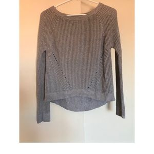 The Gap gray high low sweater size small